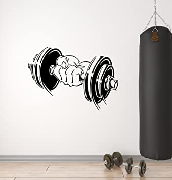 Mancuernas de vinilo (Bodybuilding entrenamiento deporte gimnasio brazo Fitness - Adhesivo decorativo para pared (ig1063) por wallstickers4you: Amazon.es: ...