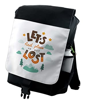 872c1362c692 Amazon.com | Lunarable Quote Backpack, Lets Find a Place to Get Lost ...
