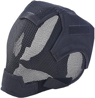 Fansport Malla Mascarilla Completa Máscara Protectora Steel Airsoft Mask para Juego Al Aire Libre