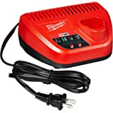 Milwaukee Genuine OEM 48-59-2401 M12 Lithium Ion 12 Volt Battery Charger w/LED Indicating, Red