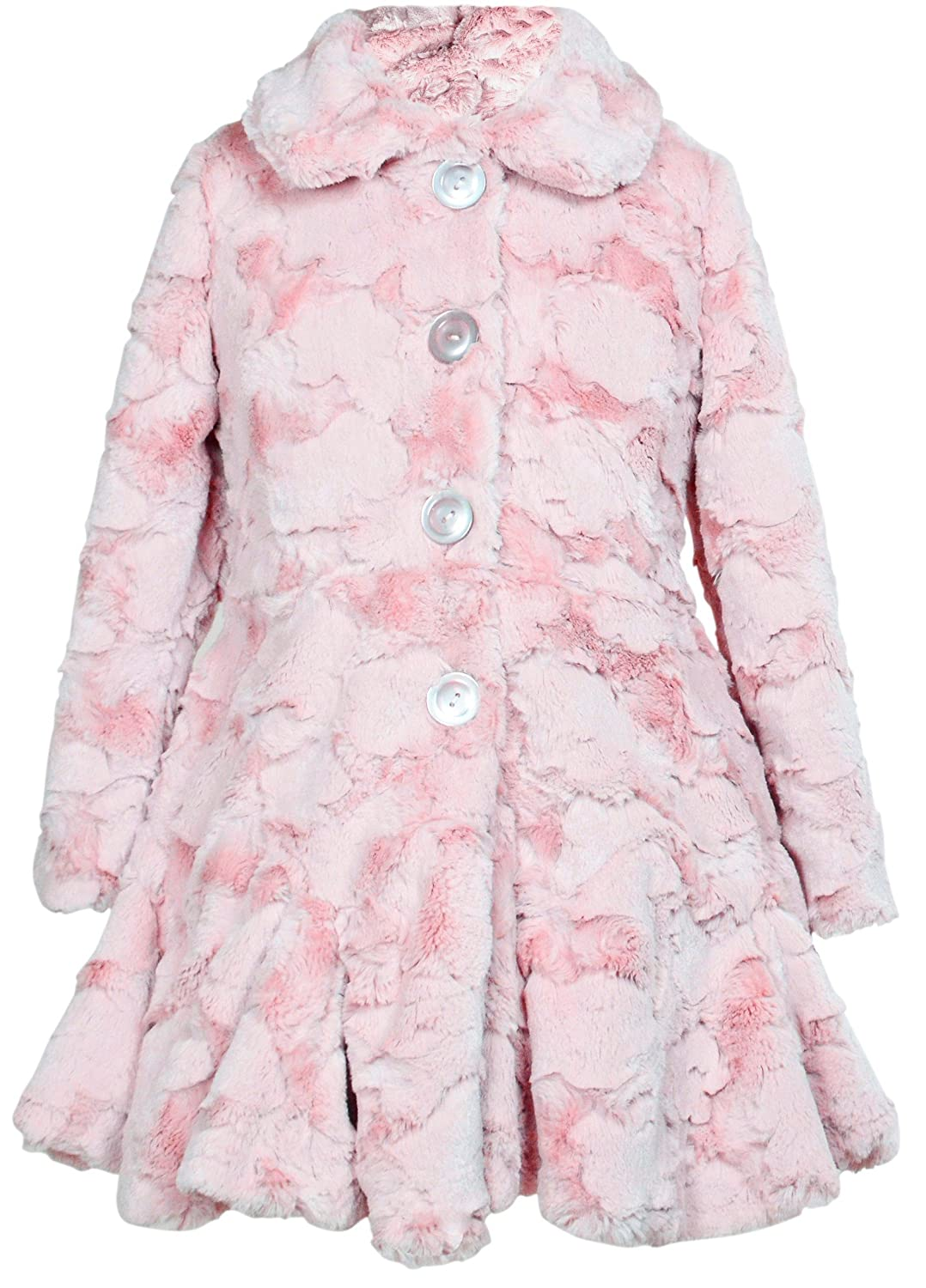Widgeon Big Girls' Button Front Faux Fur Coat Widgeon Girls 7-16 3504