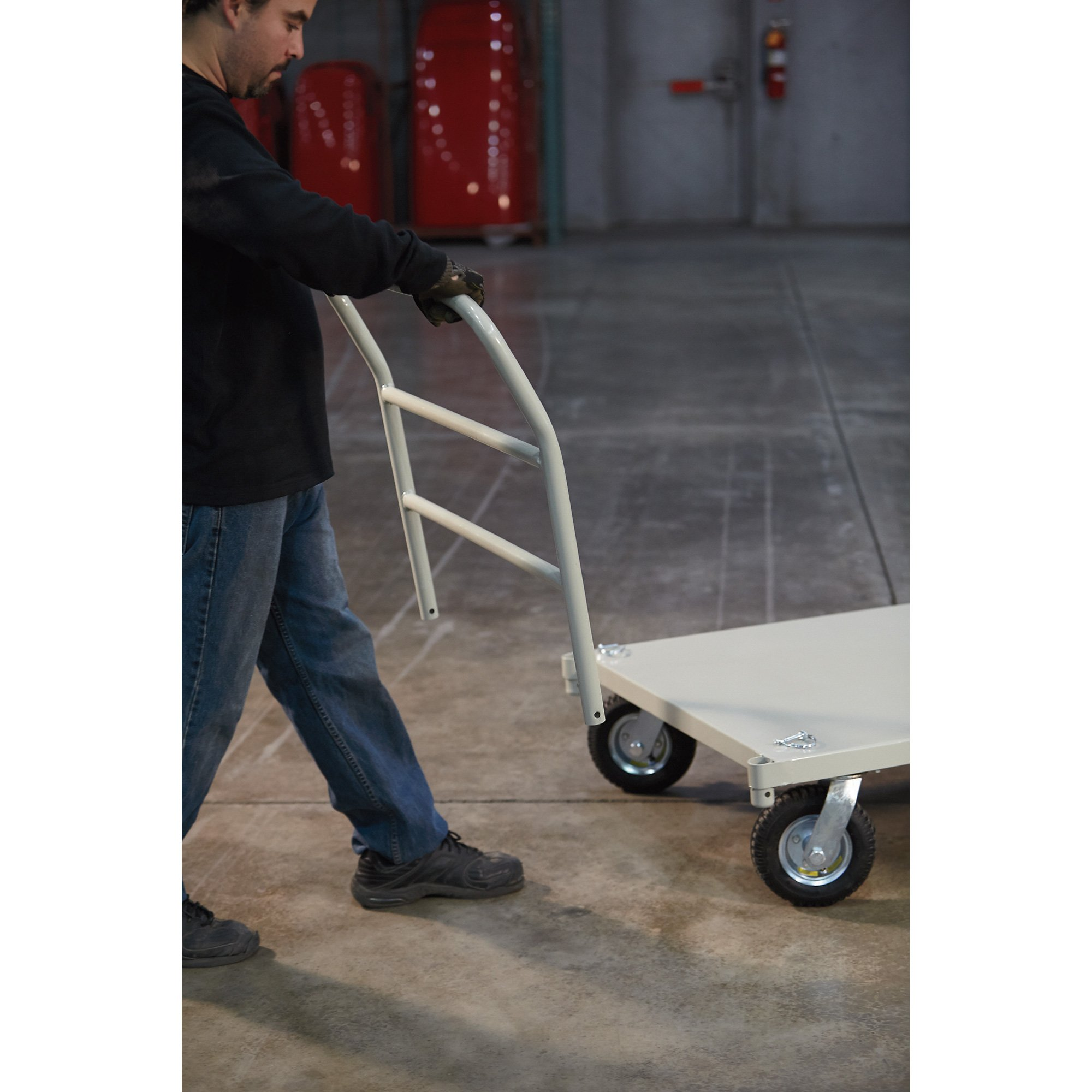 Roughneck Platform Truck - 1,000lb. Capacity, 30in. x 50in. by Roughneck