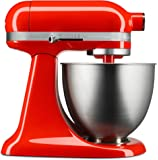 KitchenAid KSM3311XHT Mezclador de pie Artisan Mini con Cabezal Inclinable, 3.5 Quart