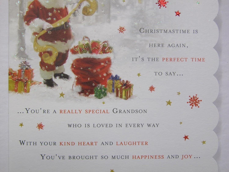 Grandson Christmas Card Verses Topsimages