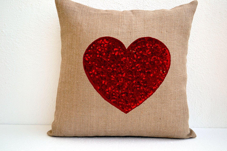 Amazon.com: Amore Beaute Burlap hecho a mano Funda de ...
