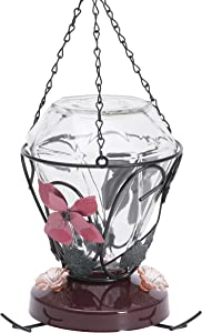 Perky-Pet Blossom Edition 24-Ounce Glass Hummingbird Feeder - 702