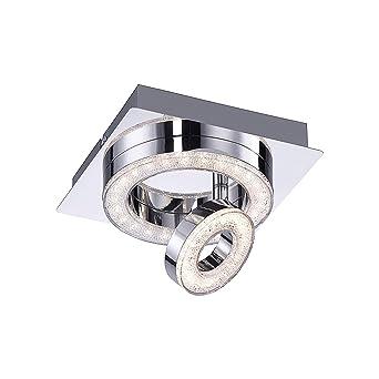 Klassische LED Decken Lampe Küchen Büro Beleuchtung Energie Spar Leuchte Chrom