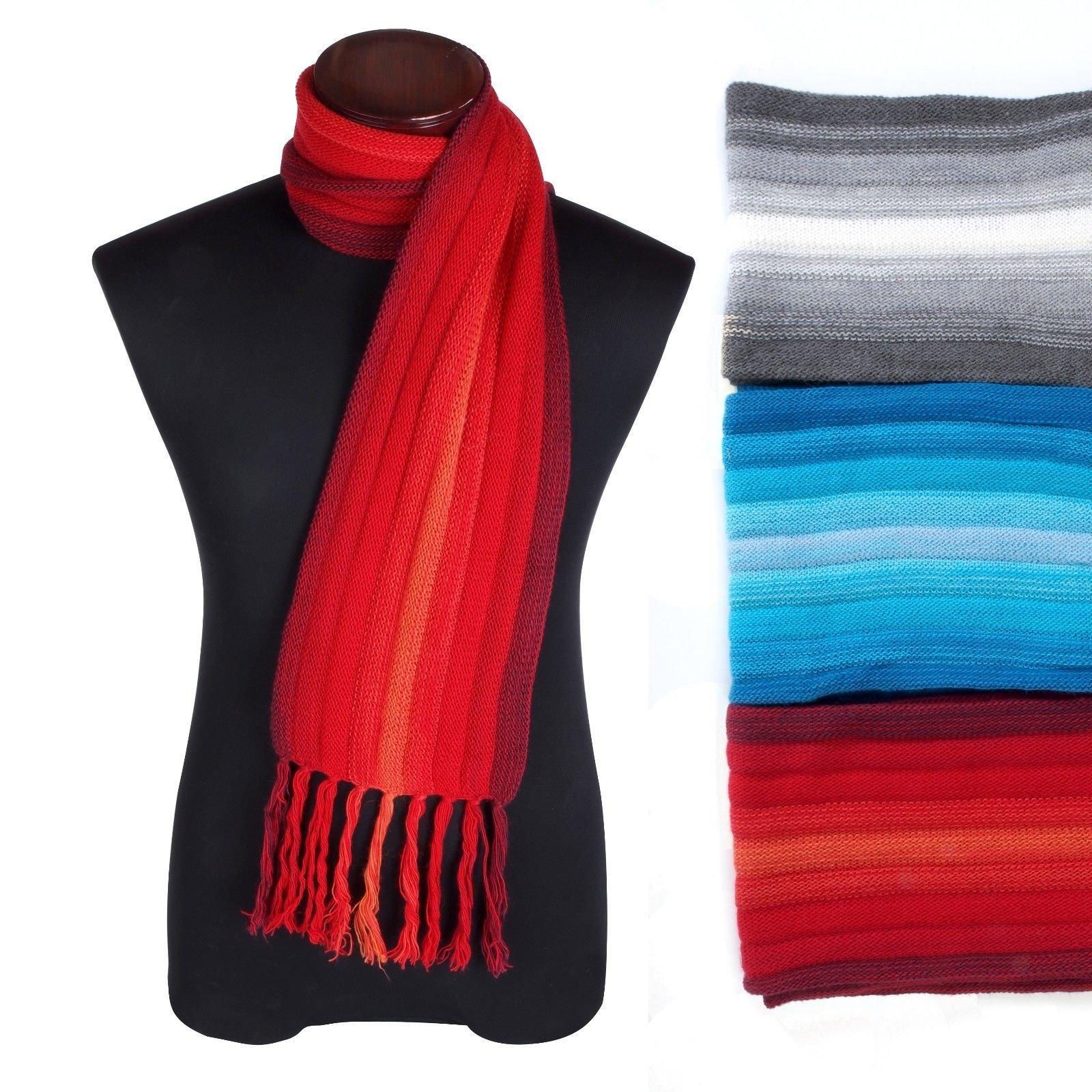 #4405 Alpaca Scarf Three Pack Wholesale Assortment Artisan Knit Peru Designer