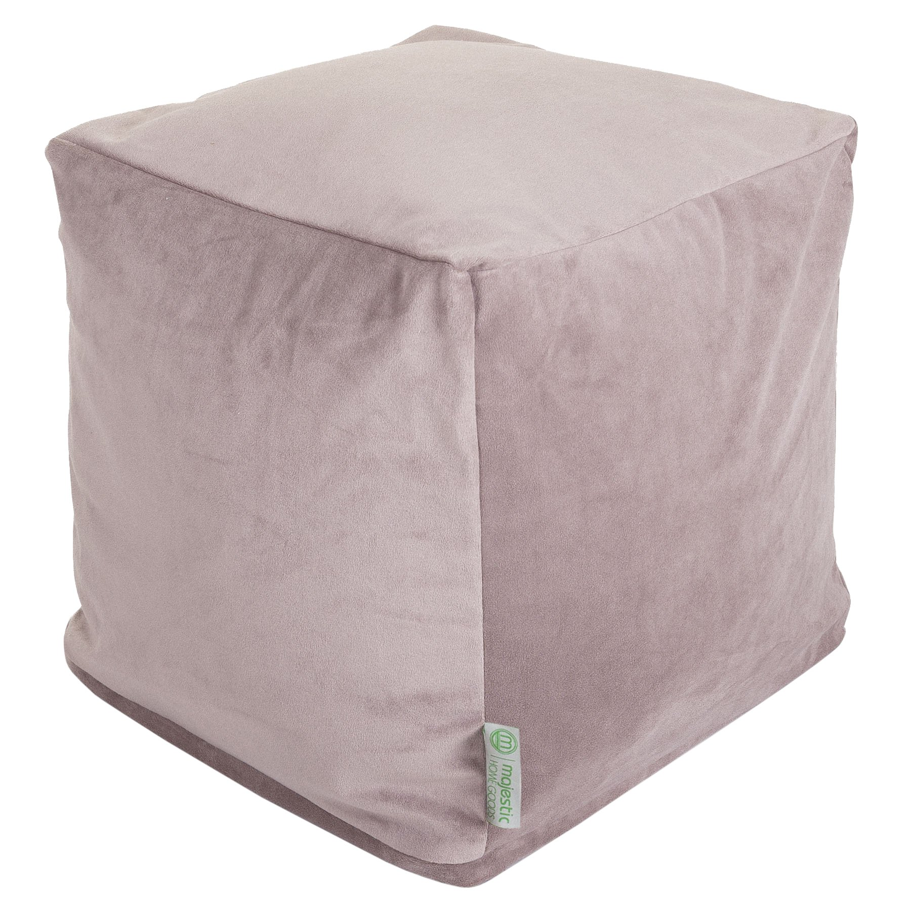 Majestic Home Goods Steel Velvet Indoor/Outdoor Bean Bag Ottoman Pouf Cube 17'' L x 17'' W x 17'' H