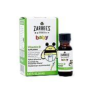 Zarbee's Naturals Baby Vitamin D Supplement, 0.47 Ounce Bottle