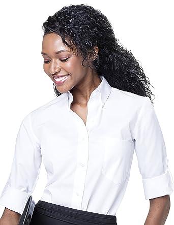 24fec821a Server Shirts Women's Button-Down Shirt Long Sleeve Button Down Collar,  Pocket - Style Ava