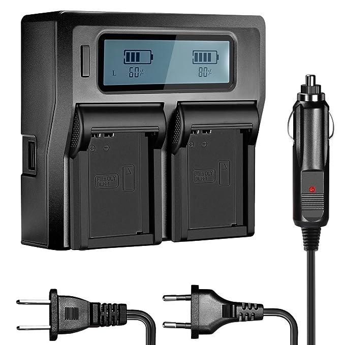 Amazon.com: Neewer – Dual Cargador de batería repuestos para ...