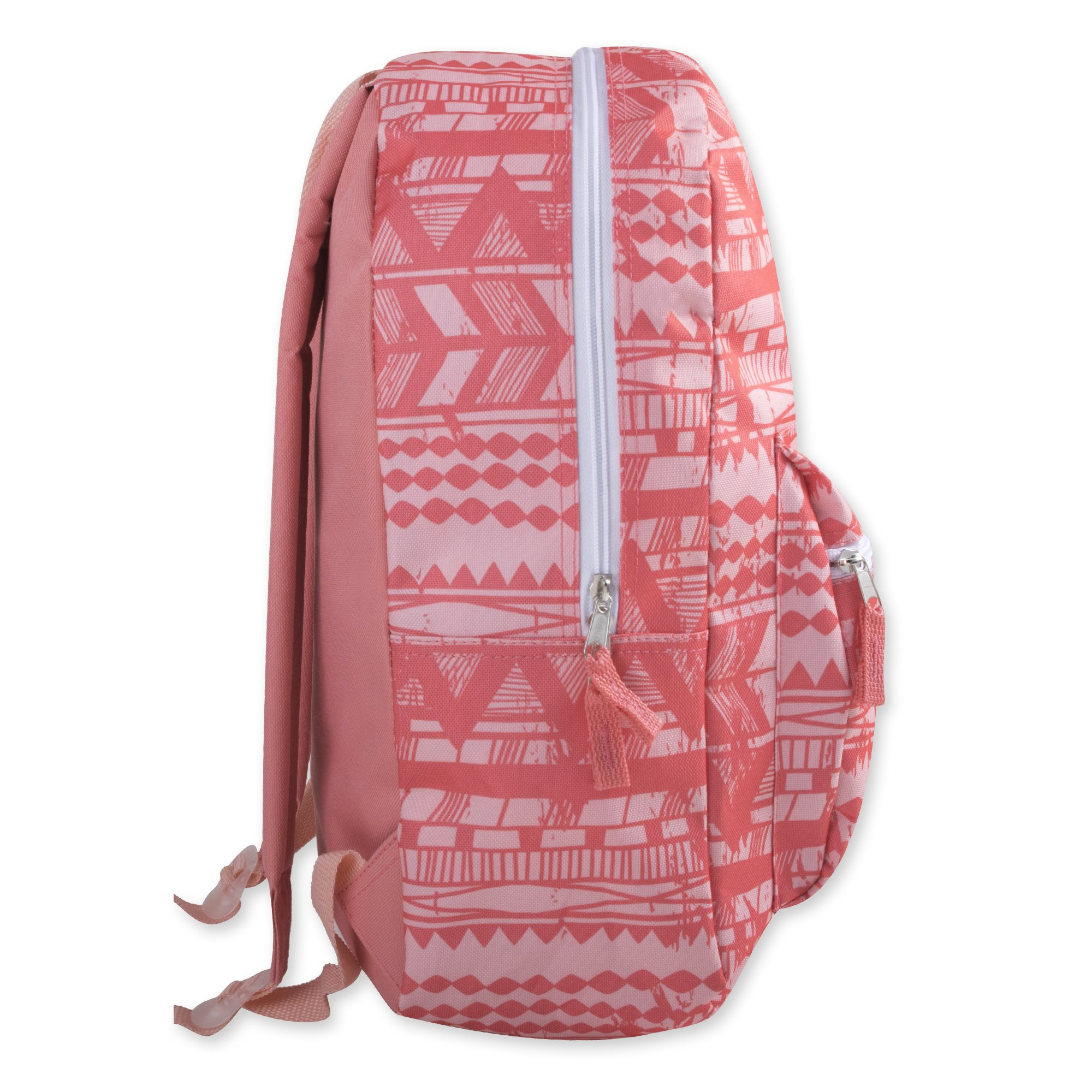 Trailmaker Girls' All Over Printed Backpack 17 Inch With Padded Straps (Peach Tribal) by Trail maker (Image #3)