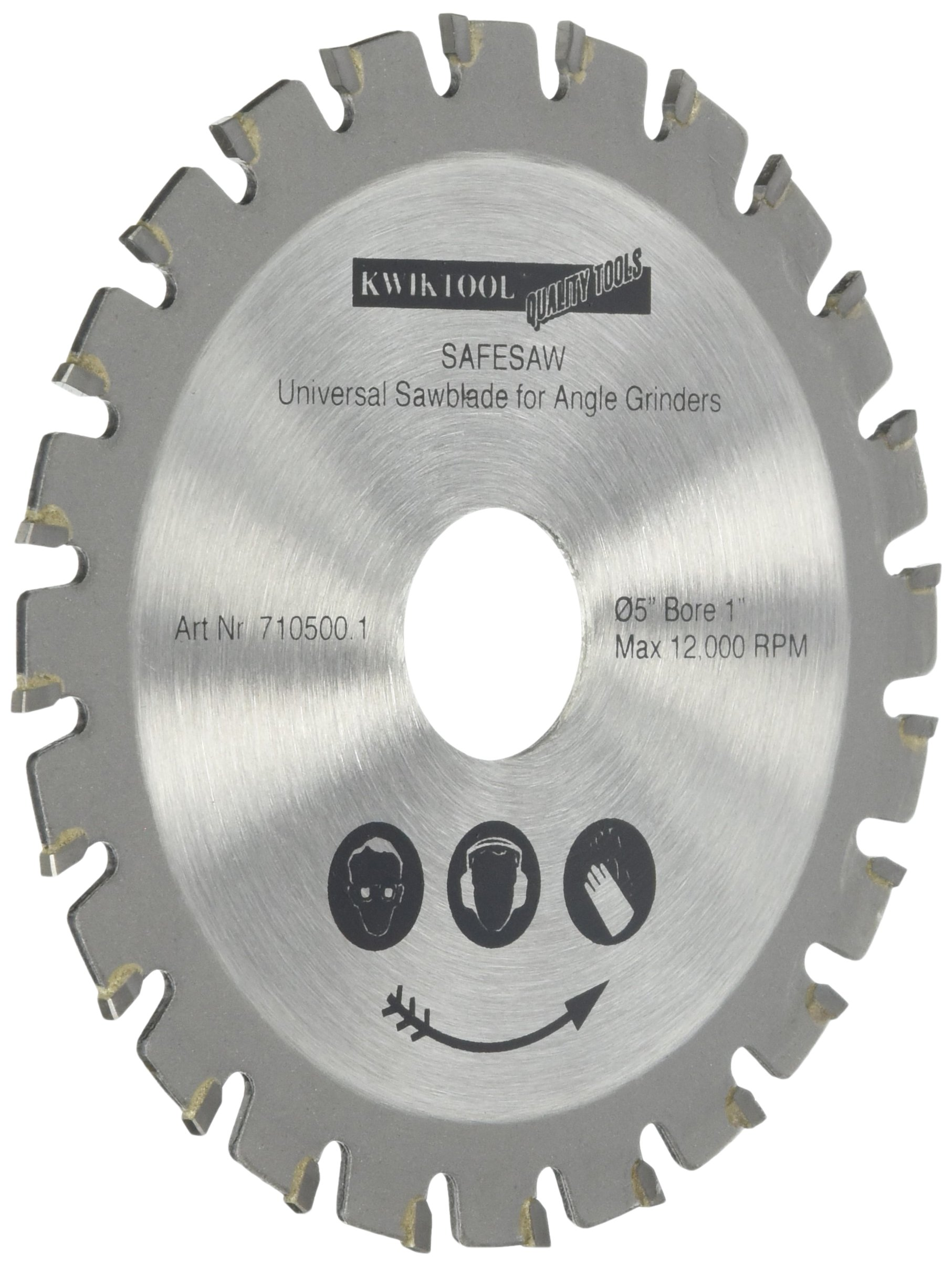 KwikTool USA BB500 C7 Bad Blade 5-Inch 36 Tooth with 1-Inch to 20 mm arbor by Kwik Tool
