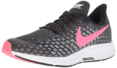 2703e2f8f849 Nike Girl s Air Zoom Pegasus 35 Running Shoe Black Racer  Pink White Anthracite
