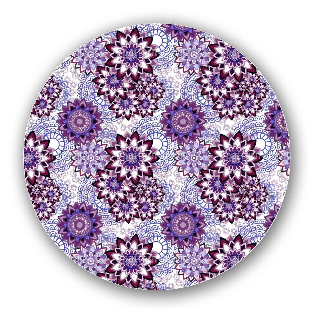 Uneekee Mandala Sprinkles Lazy Susan: Large, Dark Wooden Turntable Kitchen Storage