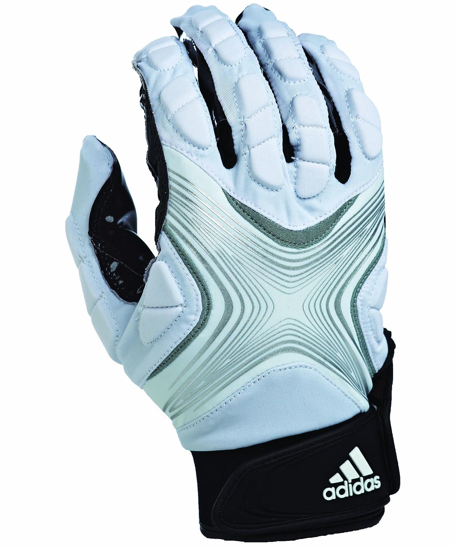(Large, Weiß Silver) - adidas Powerweb 2.0 Football Receiver Gloves