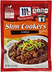"McCormick ""Slow Cookers"" Chili Seasoning Mix (1.5 oz Packets) 4 Pack"