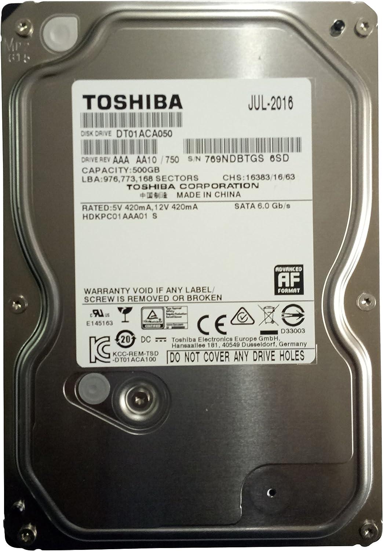 Toshiba DT01ACA050 500 GB 3.5-Inch Internal Hard Drive 500