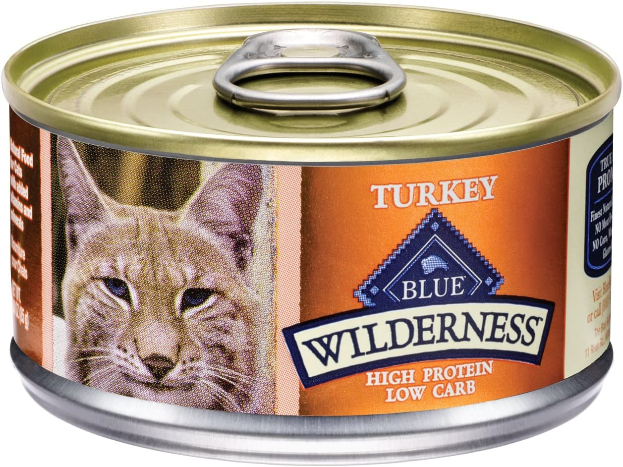 Blue Buffalo Wilderness Grain Free Canned Cat Food, Turkey Recipe (Pack Of 24 3-Ounce Cans)