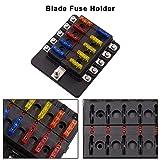 VETOMILE 10-way Fuse Box Blade Fuse Block Holder