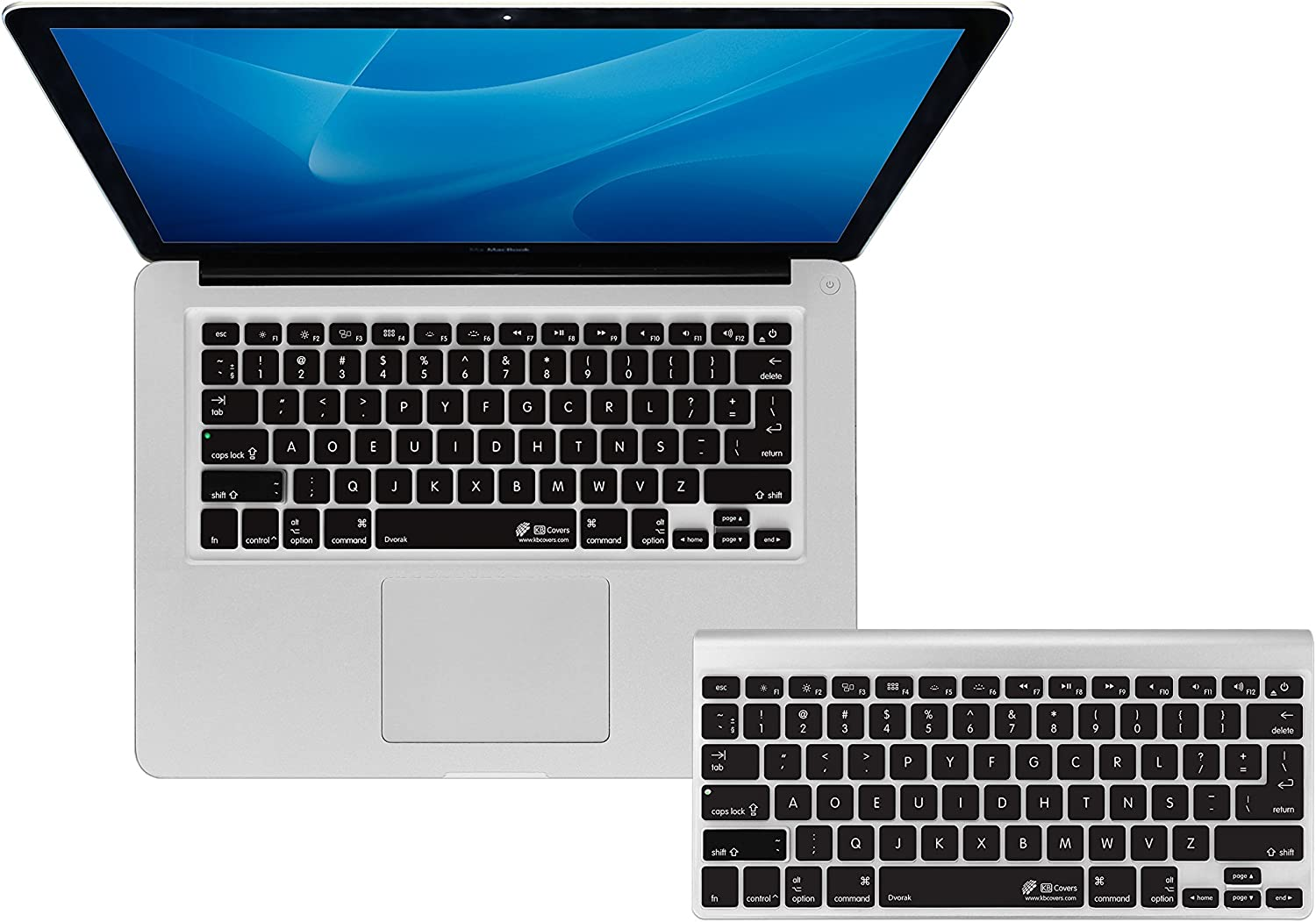 KBCovers - Keyboard Cover for Dvorak fits MacBook Pro 13, 15 and 17 inch (2008-2015)