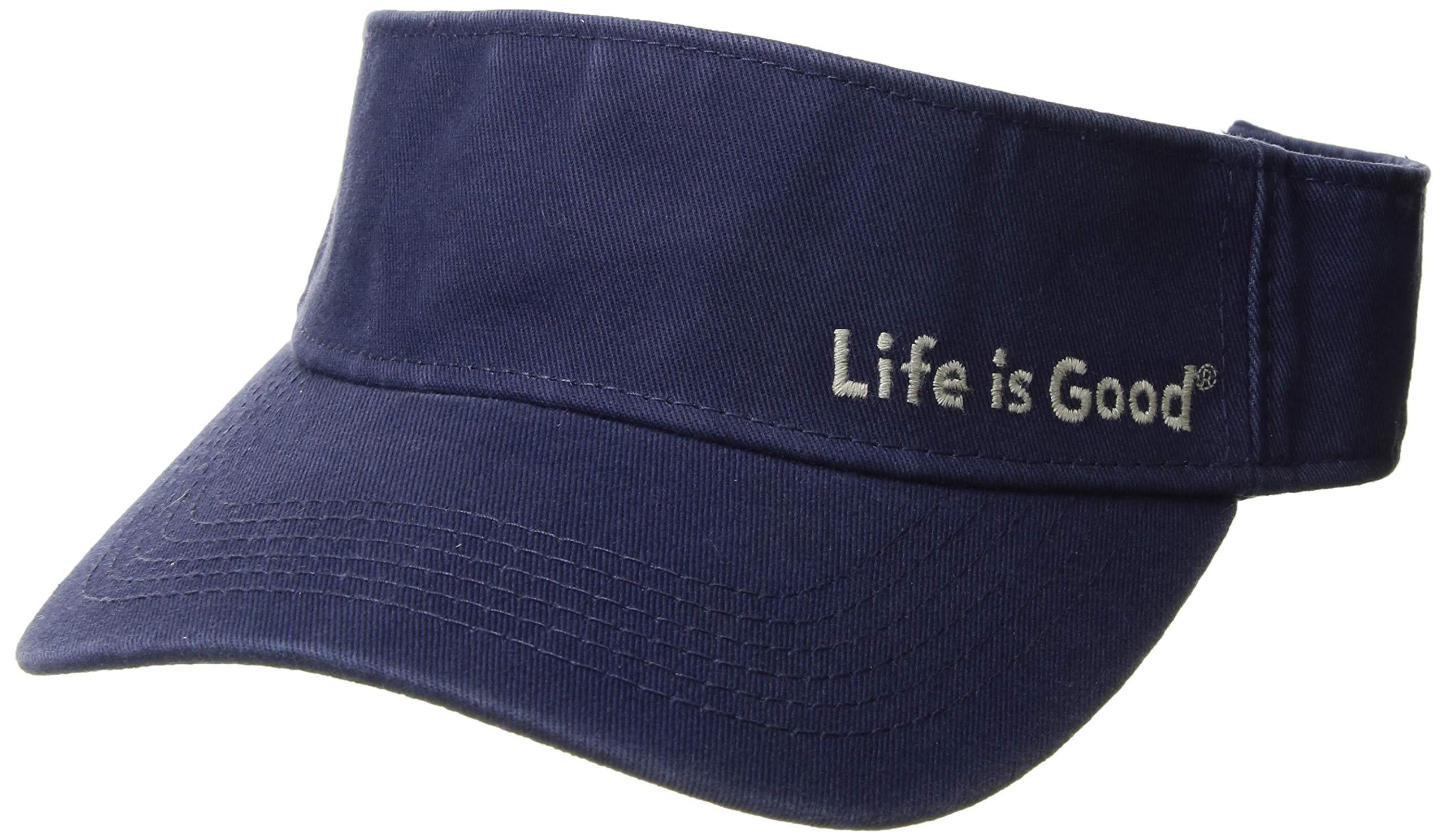 Life is Good Visor Evolved Lig Fishing Hats, Darkest Blue, One Size