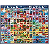 White Mountain Puzzles Flags of the World - 1000 Piece Jigsaw Puzzle