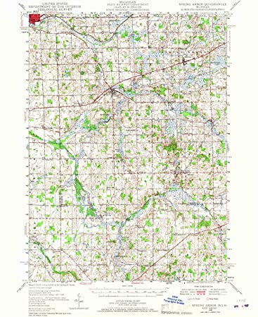 Spring Arbor Michigan Map.Amazon Com Yellowmaps Spring Arbor Mi Topo Map 1 62500 Scale 15