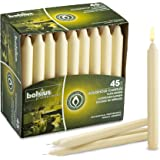Bolsius Straight Unscented Ivory Candles Pack of 45-7-inch Long Candles - 7 Hour Long Burning Candles - Perfect for Emergency