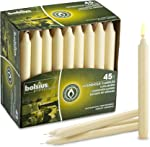 Bolsius Straight Unscented Ivory Candles Pack of 45-7-inch Long Candles -