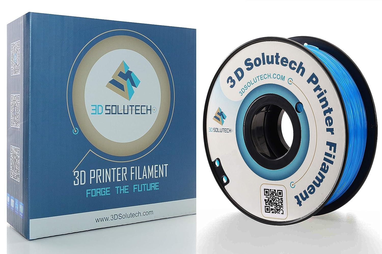 1.0KG 2.2 LBS 3D Solutech See Through Aqua Blue 3D Printer PLA Filament 1.75MM Filament Dimensional Accuracy +//- 0.03 mm