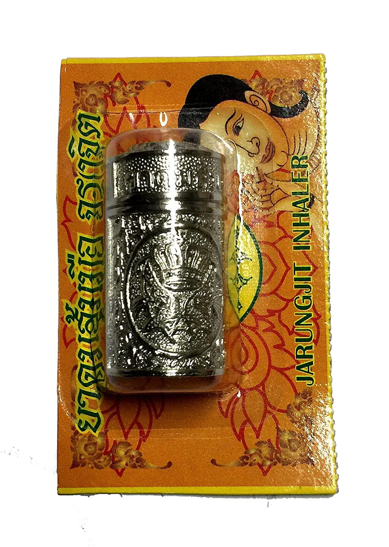Thai Herbal JARUNGJIT Inhaler Relieve nasal congestion and dizziness (SILVER PACKAGE)