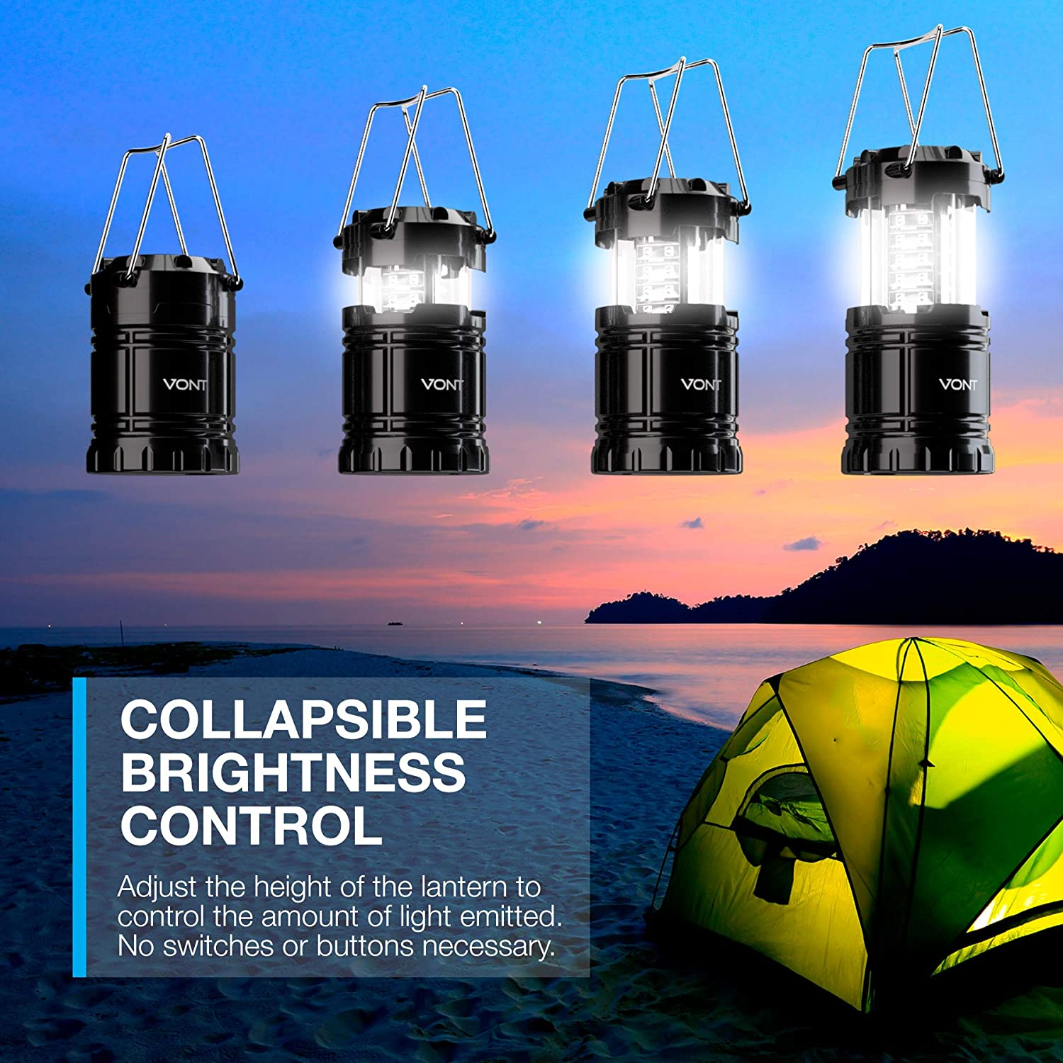 Collapsible Lantern Two-Pack