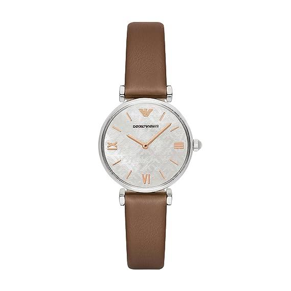 Emporio Armani Reloj para Mujer de Cuarzo con Correa en Cuero AR1988