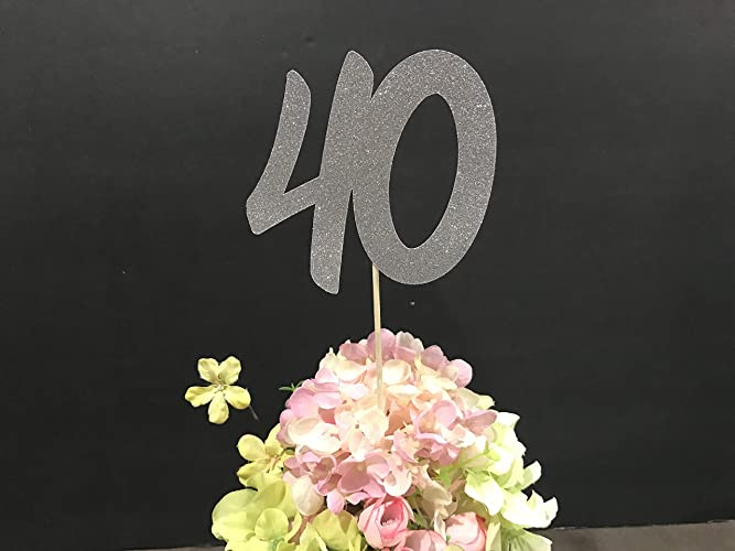 40th Birthday Party Decorations Centerpiece Sticks Glitter Decoration