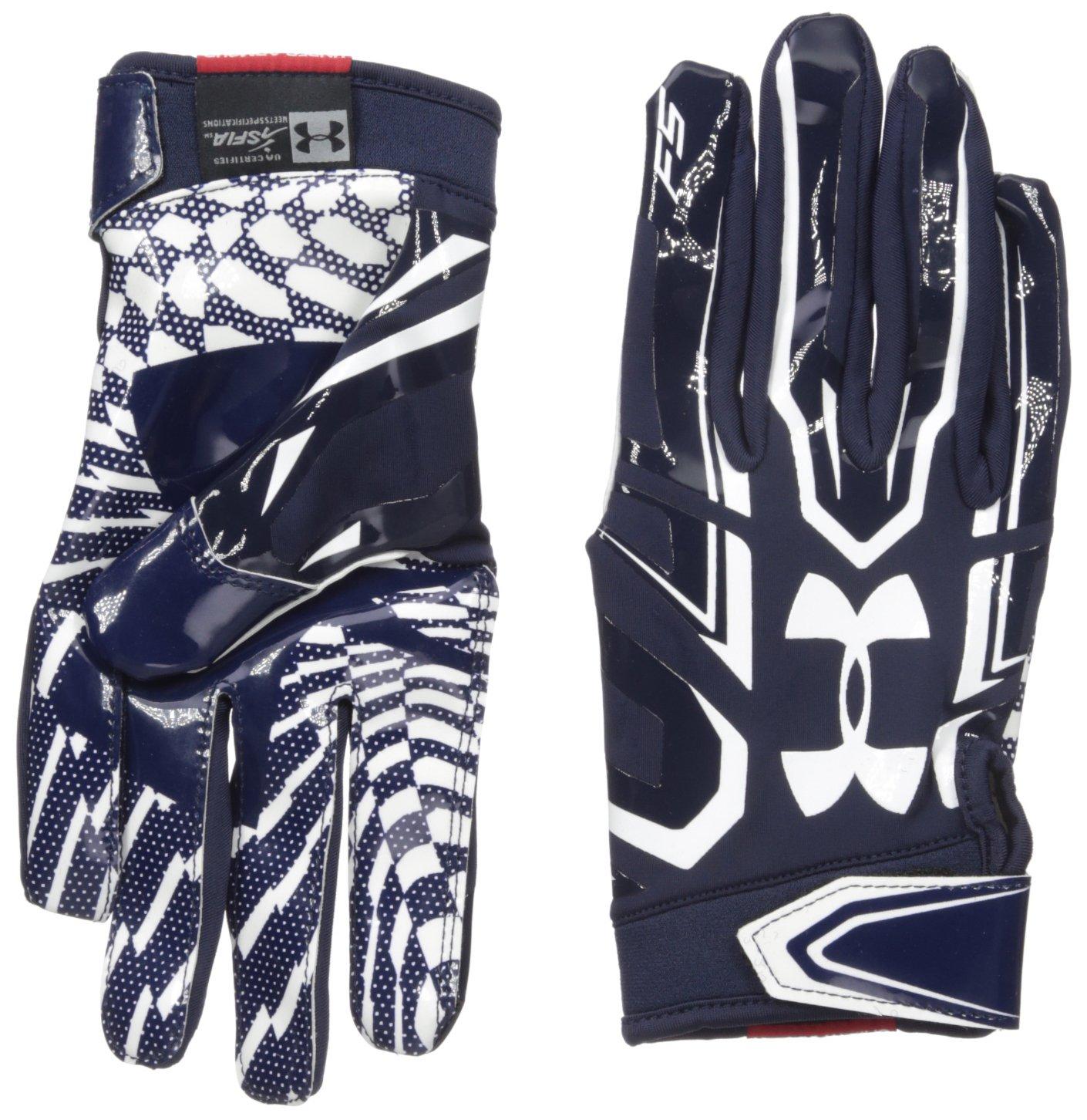 Under Armourメンズf5 Football Gloves B01A6LYO0Y ネイビー/ホワイト(Midnight Navy/White) Small Small|ネイビー/ホワイト(Midnight Navy/White)