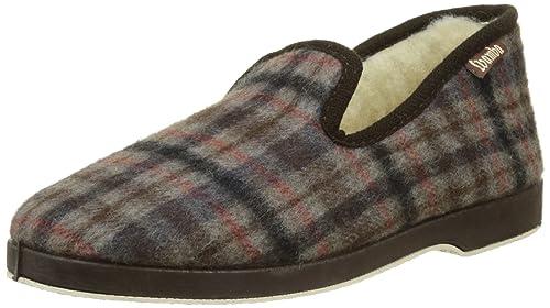 Wamba By Victoria Confortable Cuadros F/Lana, Zapatillas de Estar por casa para Hombre, (Marrón), 42 EU: Amazon.es: Zapatos y complementos