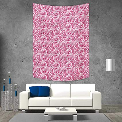 Ordinaire Smallbeefly Hippie Home Decorations Living Room Bedroom Abstract Vintage  Leaves Bohemian Oriental Sacred Motif In Pink Shades Wall Art Home Decor  54W ...