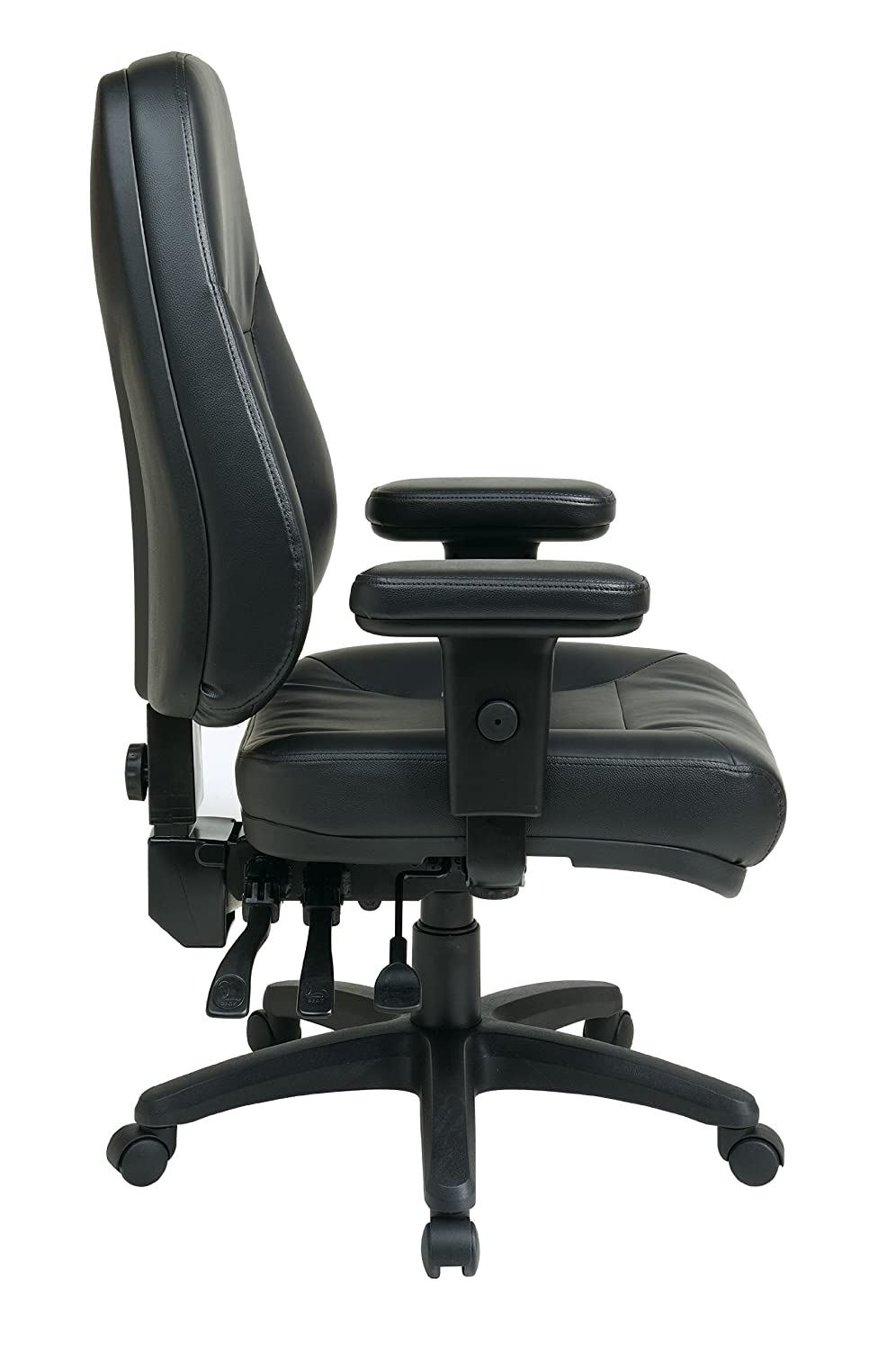 amazoncom office star dual function ergonomic high back eco leather office chair black kitchen u0026 dining