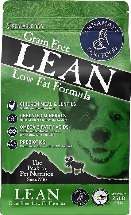 Annamaet Grain-Free Lean Reduced Fat Formula Dry Dog Food, (Chicken & Duck)