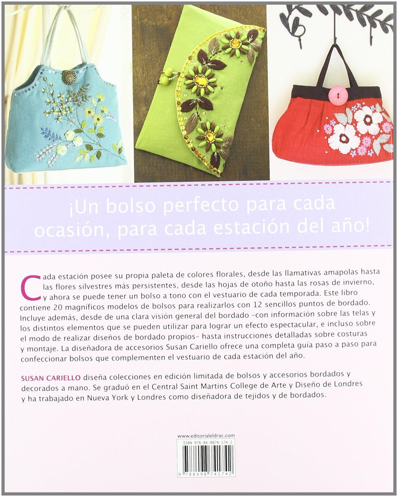 Bolsos bordados / Bags in Bloom: 20 proyectos con flores bordadas para cada estacion del ano, realizados facilmente con sus patrones y explicados paso . ...