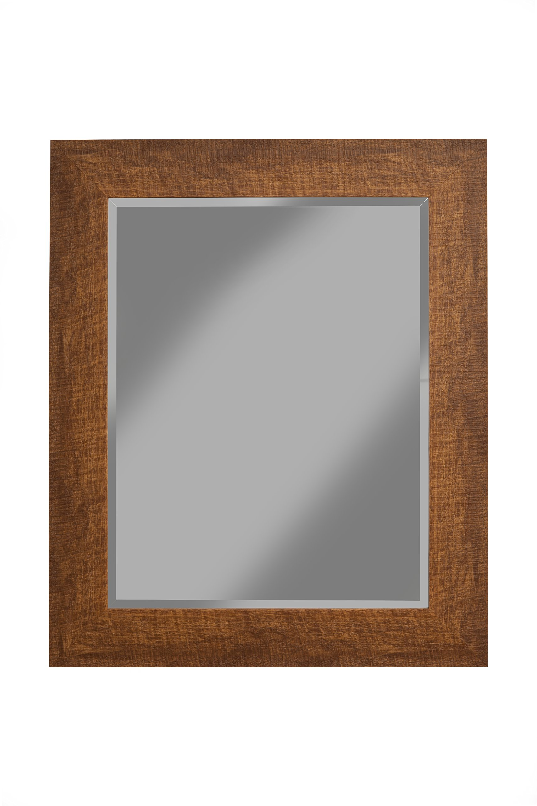 Sandberg Furniture 18717, 36'' x 30'' Wall Mirror, Honey Tobacco
