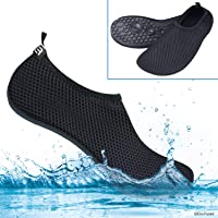 Water Socks or Shoes for Women - Extra Comfort - Protects Against Sand, Cold/Hot Water, UV, Rocks/Pebbles - Easy Fit Footwear for Swimming