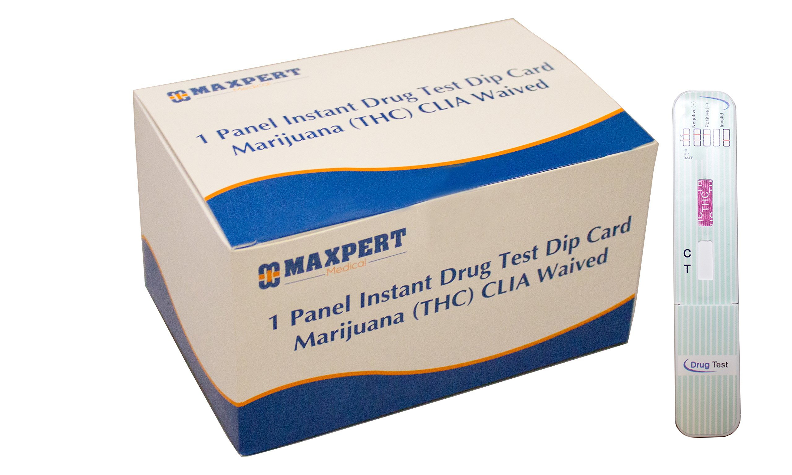 1 Panel Instant Drug Test Dip Card Marijuana (THC) CLIA Waived (25 per package)