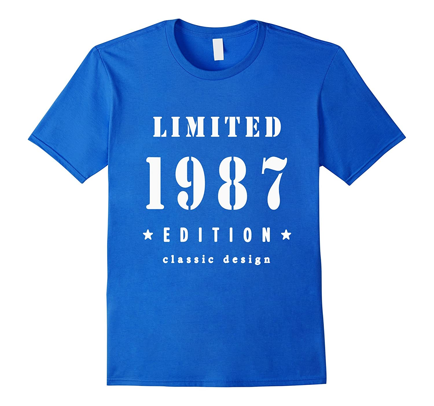 30th Birthday T Shirt Vintage Made In 1987 Gift Ideas Guys TH