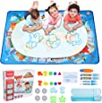 Hautton Magic Doodle Mat, 120 x 90 cm, for Kids Toddlers Boys Girls(Age 3 4 5 6 7 8 Years), Large Water Painting Drawing Mat, with World Map Pattern