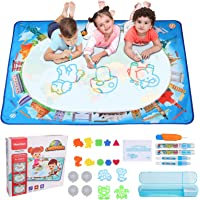 Hautton Magic Doodle Mat, 120 x 90 cm, for Kids Toddlers Boys Girls(Age 3 4 5 6 7 8 Years), Large Water Painting Drawing…