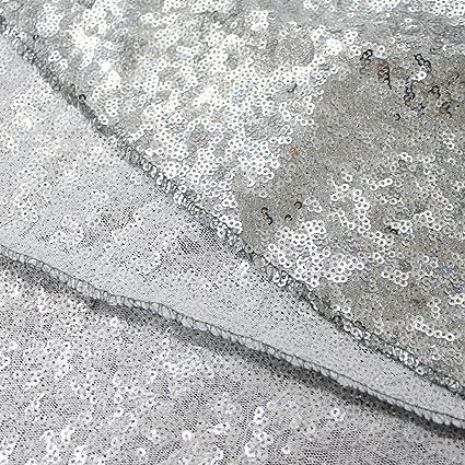 4 M plata decoración lentejuelas tela lentejuelas vestido de novia Tela Cortinas Halloween/Navidad caminos