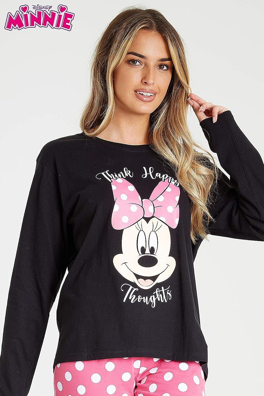 Disney Womens Pyjama Sets M Minnie Mouse Ladies Cotton PJs Size S L XL